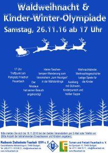 Plakat-Waldweihnacht